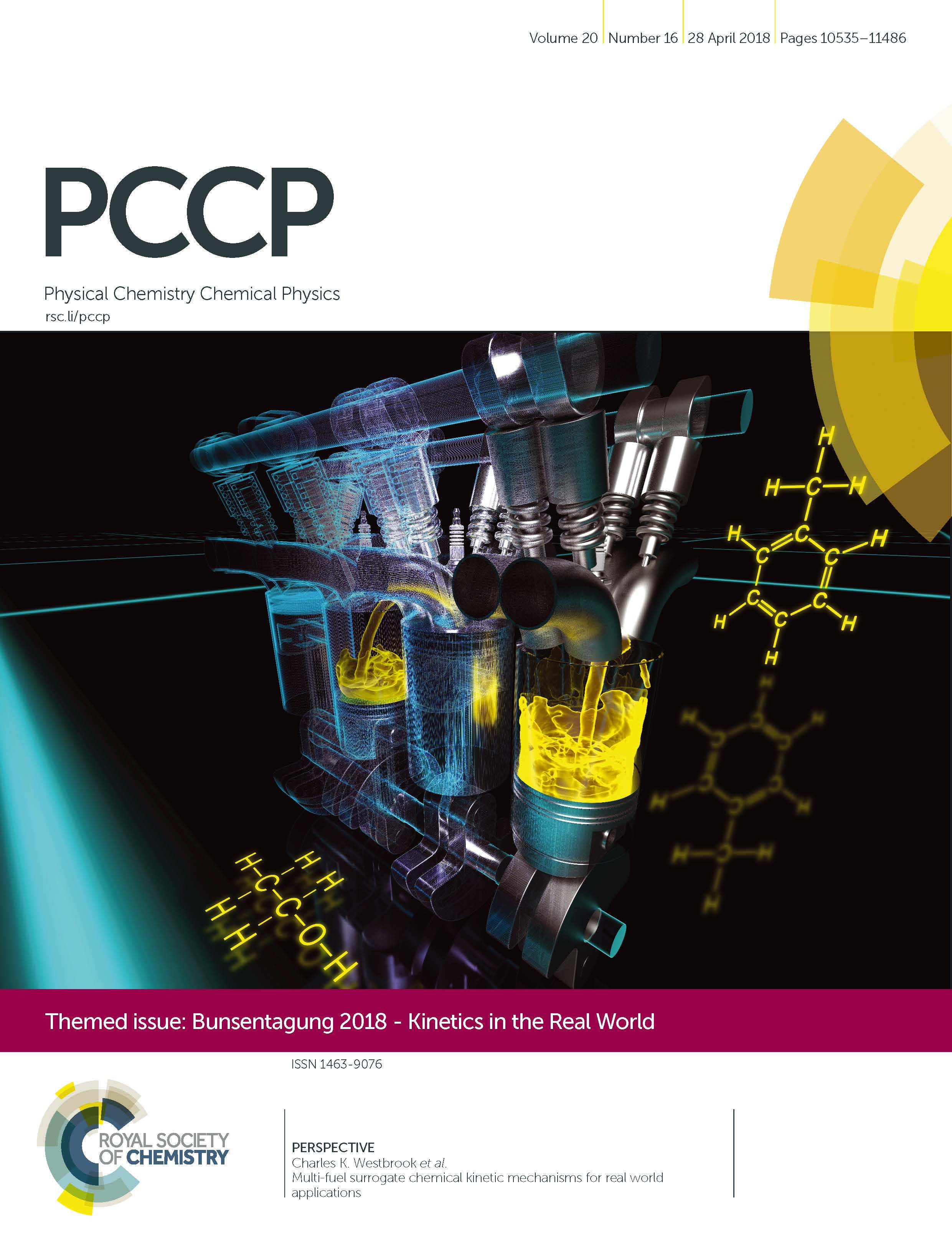 The cover of the PCCP journal.
