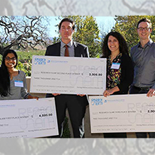 Research Slam! winners pictured from left: Ramya Tunuguntla, Michael Homel, Anna Belle and Daniel McCartt.